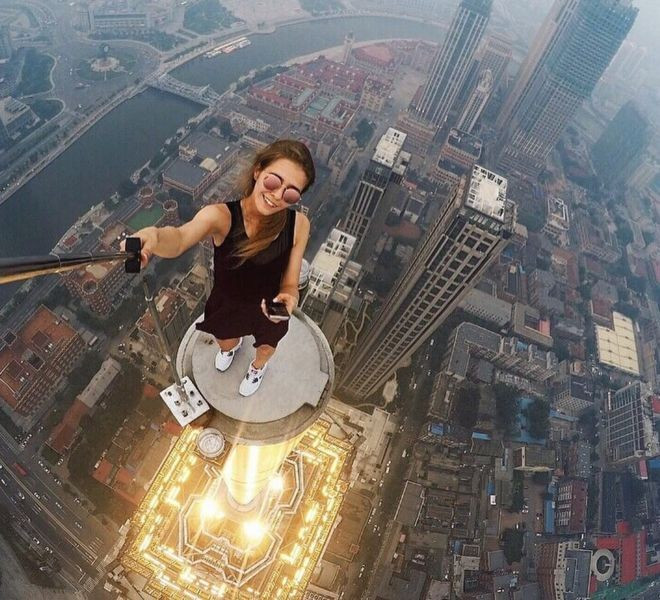 Selfie Stick foto mare