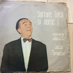 VASILE TOMAZIAN MOMENTE VESELE SALTARE TAICA SI NOROC DISC VINYL LP ELECTRECORD