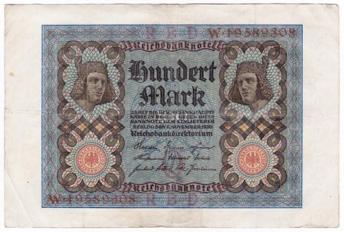 2.Germania bancnota 100 MARK 1920 100 MARCI
