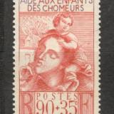 Franta.1939 In sprijinul copiilor de someri XF.93, Nestampilat