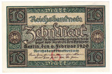 3.Germania bancnota 10 MARK 1920 MARCI perfect UNC