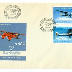 Romania - FDC nr lista 918 - 50 Ani Linia Aeriana Nationala 1976 - 3 plicuri, Europa, Aviatie