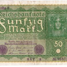Germania bancnota 50 MARK 1919 50 MARCI