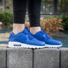 Adidasi Originali Nike AIR MAX 90 Leather, Autentic, Noi in Cutie 36.5 - Adidasi dama Nike, Culoare: Albastru, Piele naturala