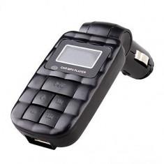 Modulator FM USB Mp3 cu telecomanda 12/24v COD 17 Negru - Modulator FM auto, Modulator FM Stereo