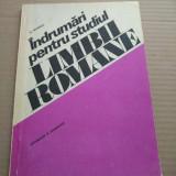 ÎNDRUMĂRI PENTRU STUDIUL LIMBII ROMÂNE - N. MIHĂESCU