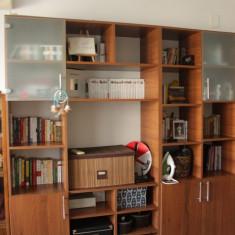 Vand biblioteca din pal melaminat - Biblioteca living