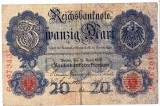 2.Germania bancnota 20 MARK MARCI 1910 VF