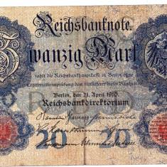 2.Germania bancnota 20 MARK MARCI 1910 VF