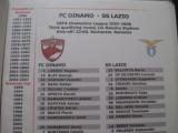 Dinamo Bucuresti - Lazio Roma (2007 / 2008/ foaie de joc)