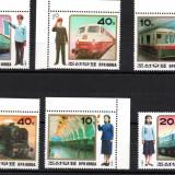 COREEA DE NORD 1987, Locomotive, serie neuzata, MNH - Timbre straine, Transporturi, Nestampilat