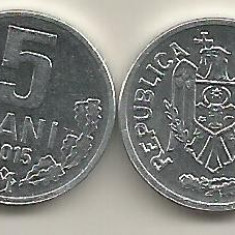 MOLDOVA 5 BANI 2015 [1] a UNC, livrare in cartonas, Europa, Aluminiu