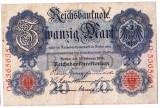 Germania bancnota 20 MARK 1914  20 MARCI VF+