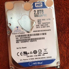 HDD laptop - Hard disc Western Digital 2TB SATA ( WD20NPVZ ) - stare perfecta, Peste 1 TB, SATA 3, 8 MB