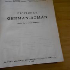 DICTIONAR GERMAN - ROMAN - EDITURA ACADEMIEI - 1989 180000 cuvinte