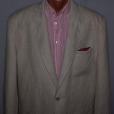 Costum barbati CLASSIC MAN din in si bumbac marimea 50 / 52 culoarea bej / crem, 2 nasturi, Normal, Marime talie: 33