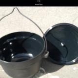 Ceaun fonta 20 litri emailat cu capac - oala, cratita