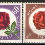Ungaria 1959 - 1 mai trandafiri, serie neuzata