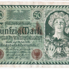 Germania bancnota 50 MARK 1920 50 MARCI