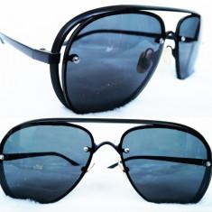 Ochelari de soare aviator, Unisex, Negru, Pilot, Metal, Fara protectie