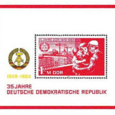 DDR 1984 - 35th Anniversary of DDR 1, colita neuzata