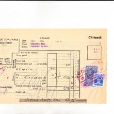 Bnk fil 3 lei timbru fiscal + 2 lei Timbrul aviatiei pe chitanta 1939