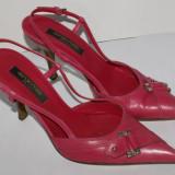 Pantofi decupati dama SERGIO ROSSI culoarea roz marimea 35,5 piele 100%