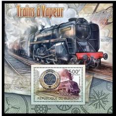Burundi, 2012, trenuri, locomotive cu aburi, seria ( in bloc)+colita, MNH** - Timbre straine, Nestampilat