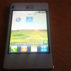 TELEFON LG-T385B FUNCTIONAL CU SLOT SIM DEFECT, Alb, Nu se aplica, Single SIM, Fara procesor