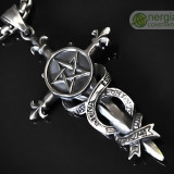 Pandantiv Pentagrama INOX (Pentagrama pe Pumnal) - cod PND034