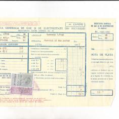 Bnk fil Timbre fiscale - 1 leu + 1 leu fondul aviatiei pe factura 1937
