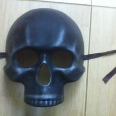 Masca craniu cap de mort negru black material din plasic hobby party