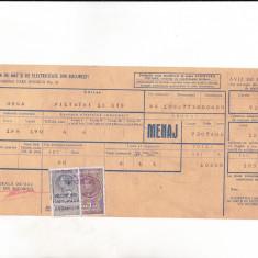 Bnk fil 1 leu timbru fiscal + 2 lei Fondul aviatiei pe chitanta 1939