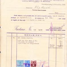 Bnk fil 2 lei fiscal + 2 lei + 1 leu Fondul aviatiei pe factura 1936