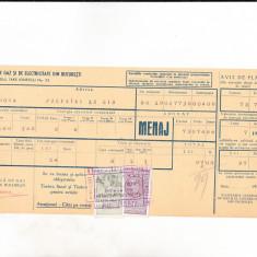 Bnk fil 1 leu timbru fiscal +1 leu Fondul aviatiei pe chitanta 1939