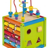 Joueco- cub din lemn multifunctional cu centru de activitati