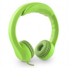 Flexi Auna, 85 dB max., căști pentru copii, foarte flexibile, culoare neon verde