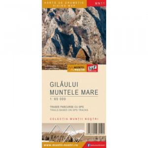Schubert & Franzke Harta Muntii Nostri  Muntilor Gilaului Muntele Mare MN11
