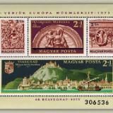Ungaria 1975 - ziua marcii postale 48, bloc neuzata