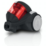 Aspirator fara sac Dirt Devil Func 1.1 , 800 W , Capacitate 1.5 litri , Single Cyclonic , Negru/Rosu