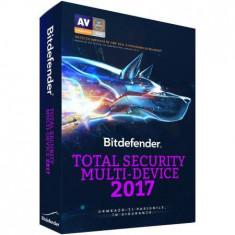 Licenta antivirus retail Bitdefender Total Security Multi-Device 2017, Nou, 1 AN - licenta valabila