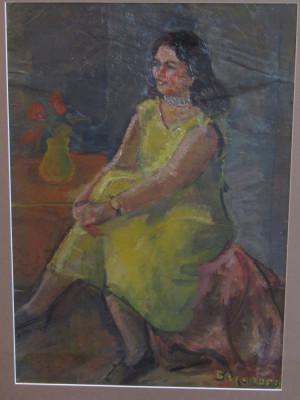 DAN BAJENARU -FEMEIE IN GALBEN foto
