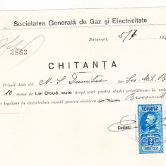 Bnk fil Timbru fiscal 2 lei pe chitanta 1927