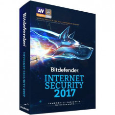 Licenta antivirus retail Bitdefender Internet Security 2017, Nou, 1 AN, licenta valabila pentru