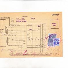 Bnk fil Timbru fiscal 3 lei + 2 lei Timbrul aviatiei pe chitanta 1939