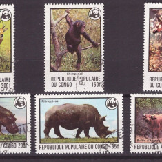 Congo 1978 - FAUNA AFRICANA, WWF - SERIE STAMPILATA