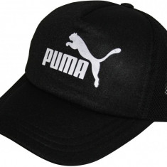 Sapca Puma Neagra - Sapca, Sepci Trucker cu plasa, Sepci Snapback. - Sapca Barbati Puma, Marime: Marime universala, Culoare: Negru