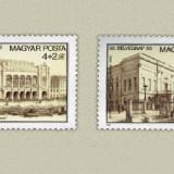 Ungaria 1983 - ziua marcii postale-arhitectura, serie neuzata
