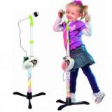 Microfon karaoke cu lumini si mufa MP3