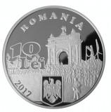 10 LEI 2017 TIRAJ 200 EX. 140 ani  proclam. Independenței de stat a României, Argint
